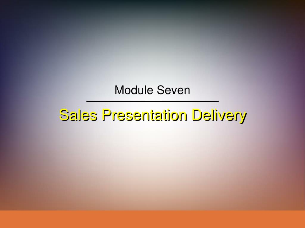 sales presentation delivery l.