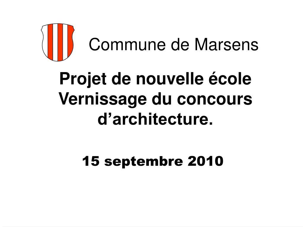 projet de nouvelle cole vernissage du concours d architecture l.