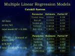 multiple linear regression models