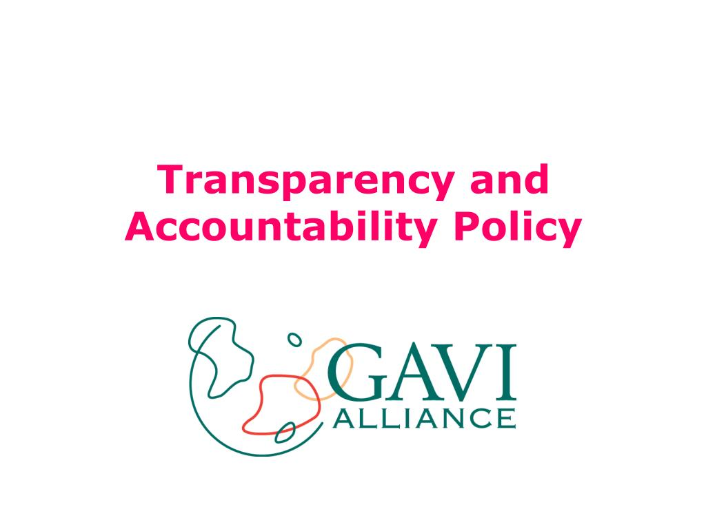 transparency and accountability policy l.