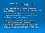 cwea training plans