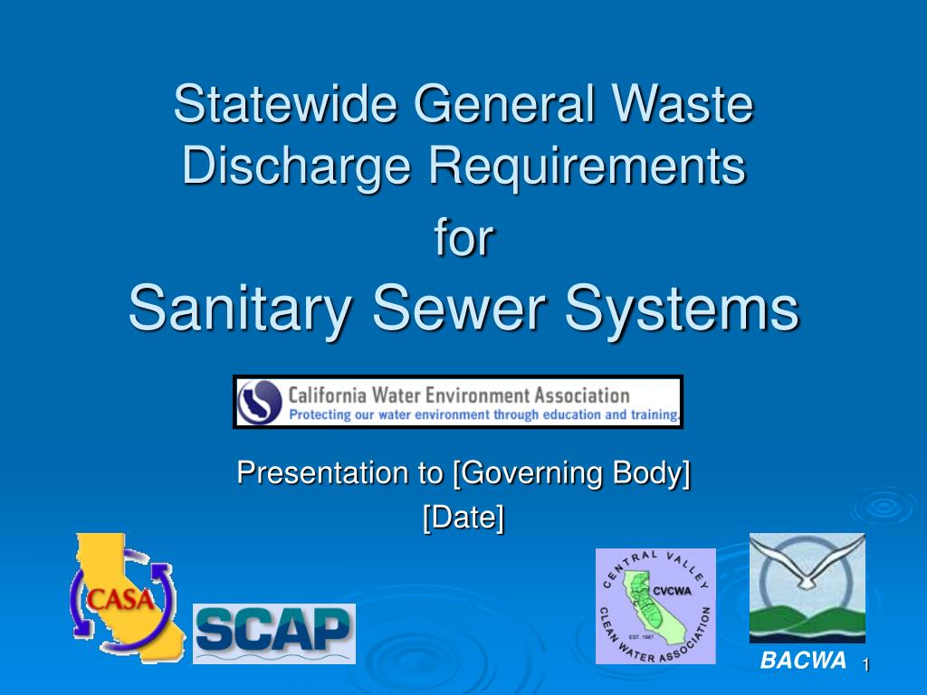 statewide general waste discharge requirements for sanitary sewer systems l.