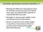 sanitation generates economic benefits 1