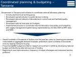 coordinated planning budgeting tanzania