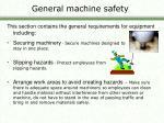 general machine safety