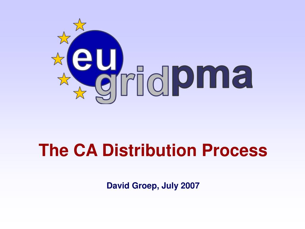 the ca distribution process david groep july 2007 l.