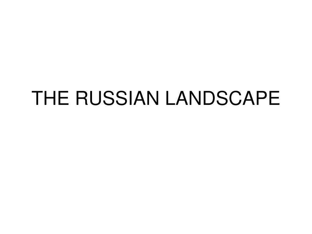 the russian landscape l.