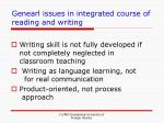 genearl issues in integrated course of reading and writing