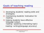 goals of teaching reading