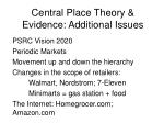 central place theory evidence additional issues