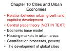 chapter 10 cities and urban economies