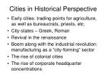 cities in historical perspective