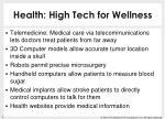 health high tech for wellness