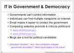 it in government democracy