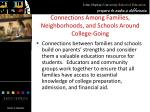 connections among families neighborhoods and schools around college going