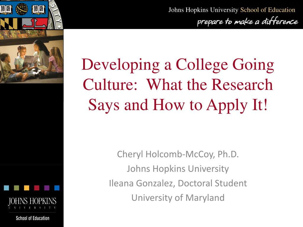 developing a college going culture what the research says and how to apply it l.