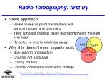 radio tomography first try