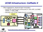 ucsd infrastructure calradio ii