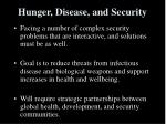hunger disease and security26