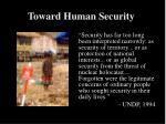toward human security