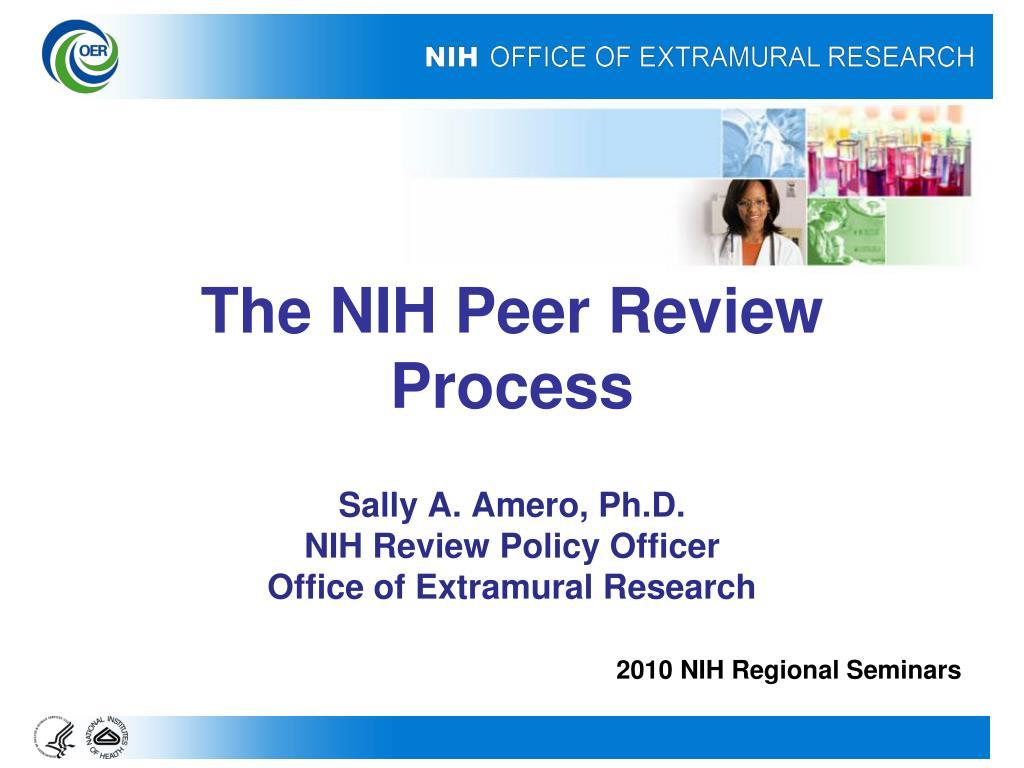 the nih peer review process l.