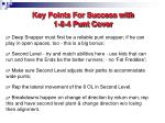 key points for success with 1 6 4 punt cover