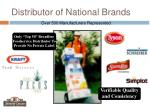 distributor of national brands