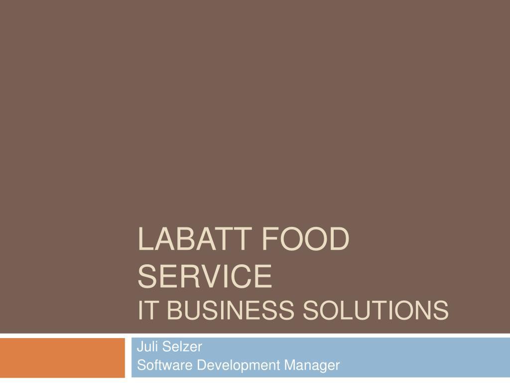 labatt food service it business solutions l.