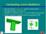 computing curve skeletons