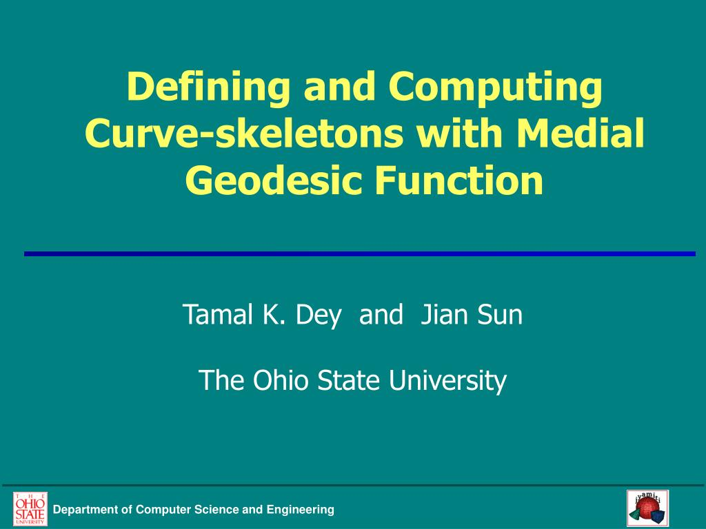defining and computing curve skeletons with medial geodesic function