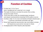 function of cochlea