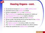 hearing organs cont