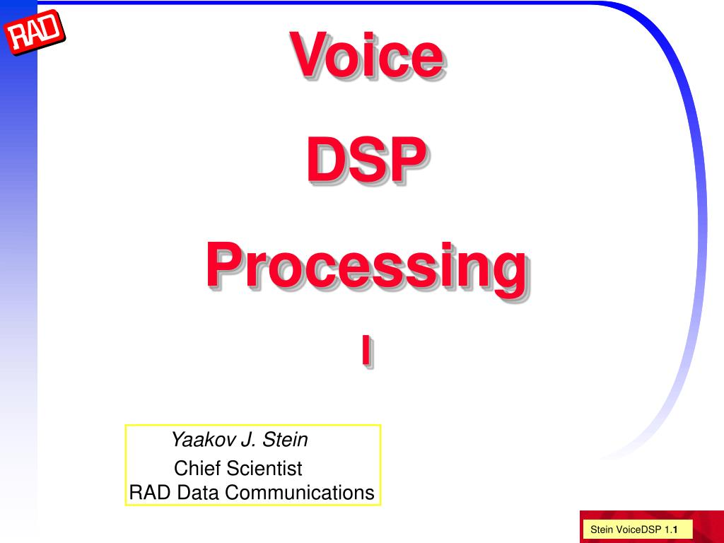 voice dsp processing i l.