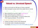 voiced vs unvoiced speech