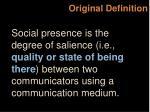 original definition