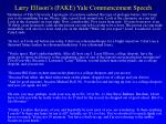 larry ellison s fake yale commencement speech