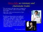 steve jobs as visionary and charismatic leader