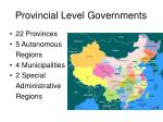 provincial level governments