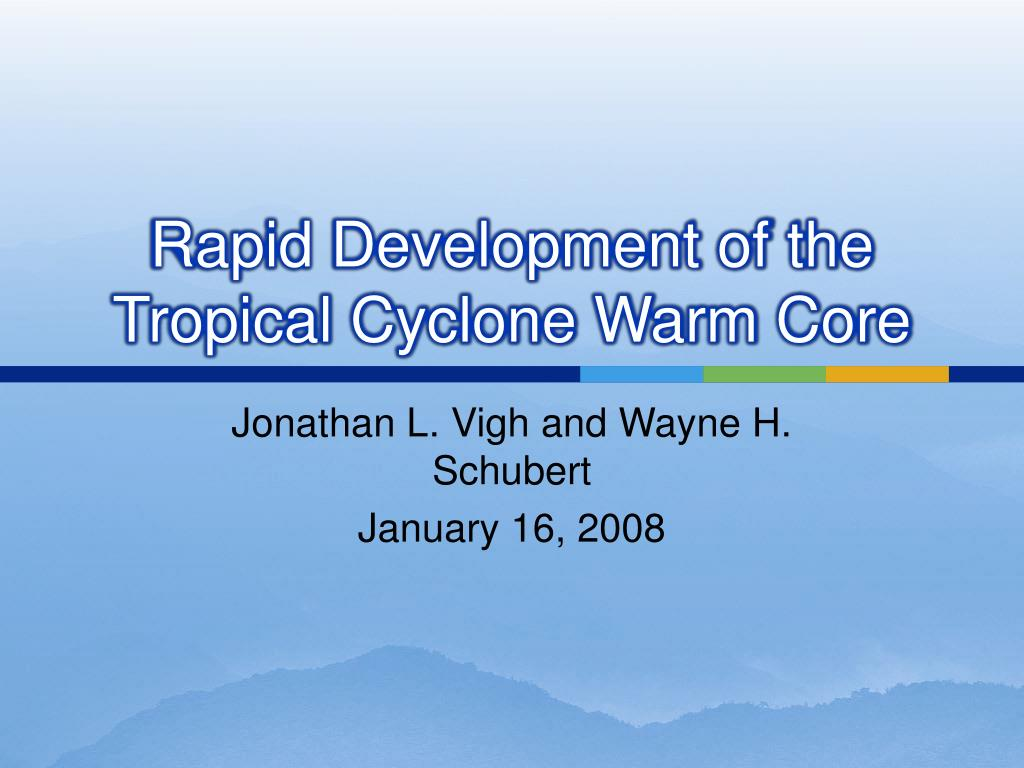 rapid development of the tropical cyclone warm core l.