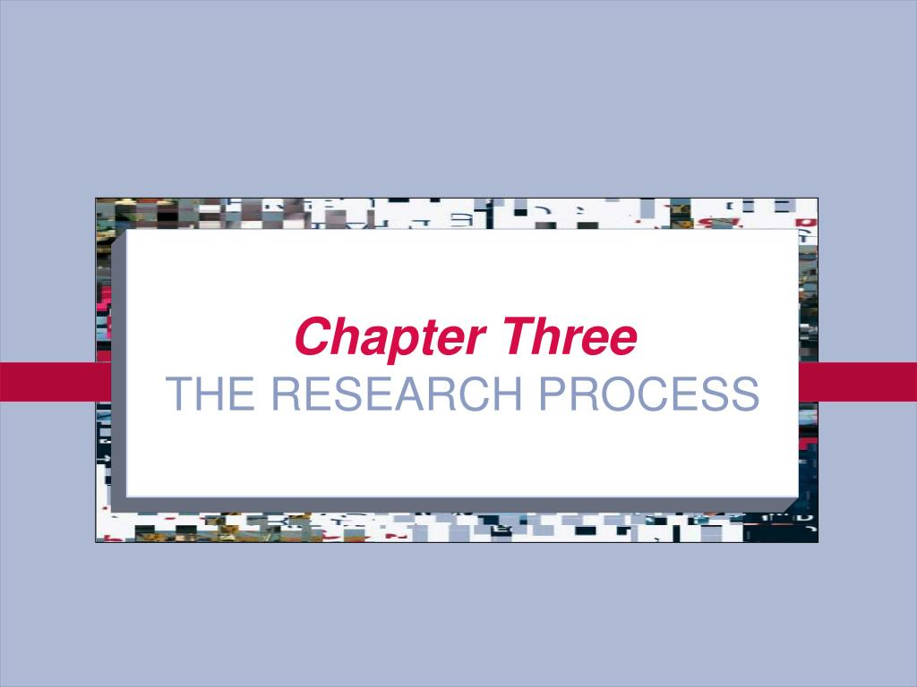 chapter three the research process l.