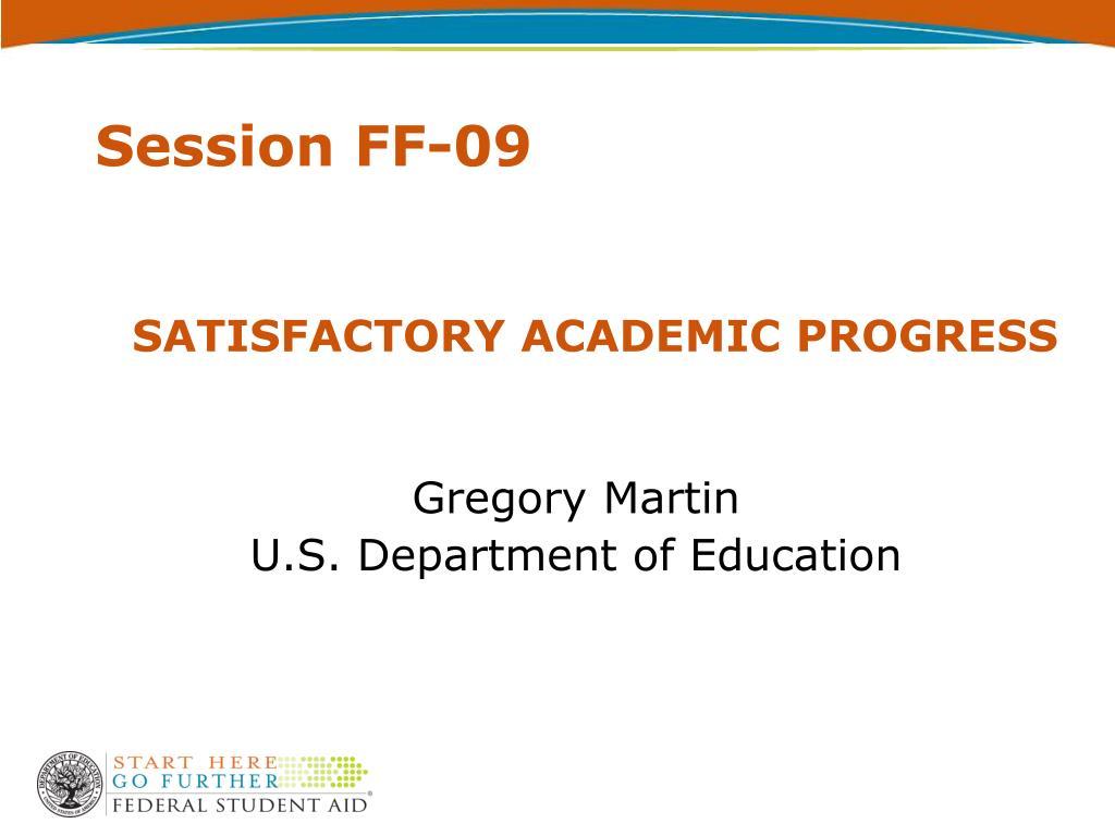 satisfactory academic progress l.