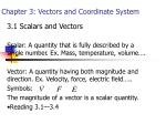 chapter 3 vectors and coordinate system