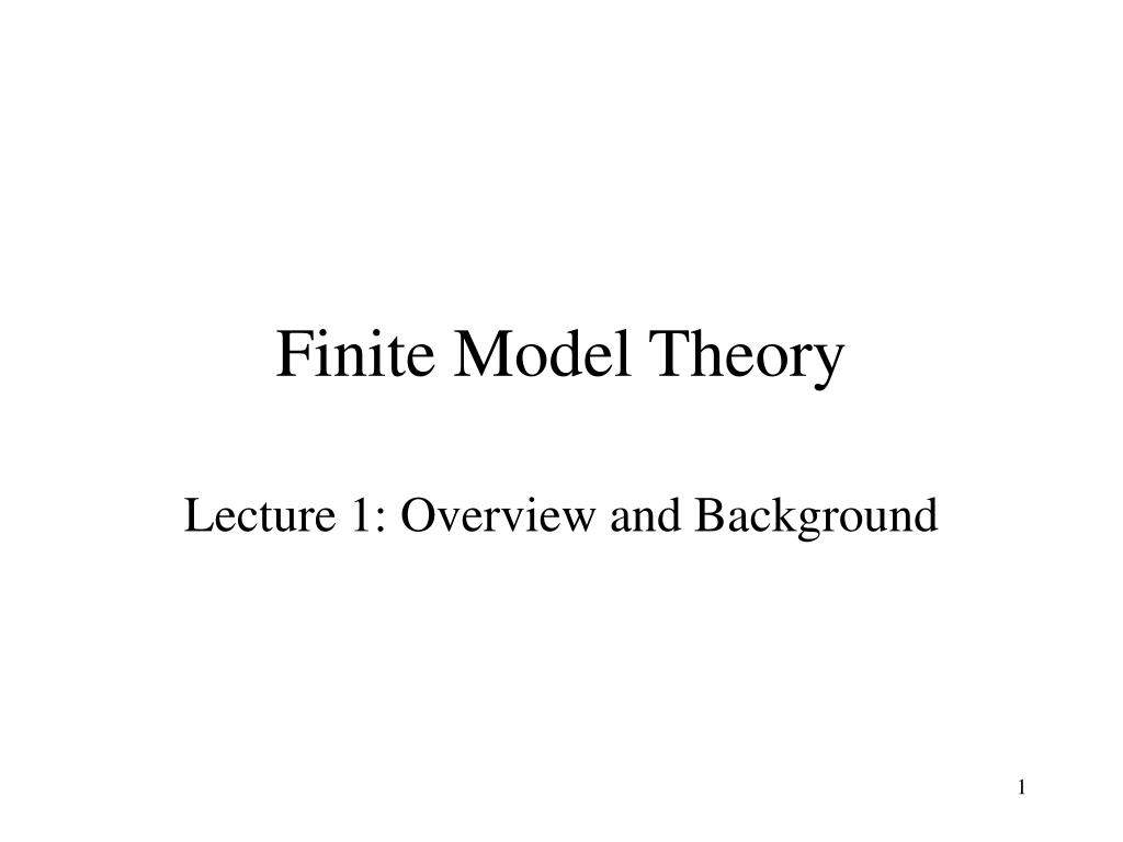 finite model theory l.