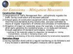air emissions mitigation measures