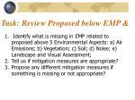 task review proposed below emp