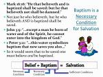 baptism is a necessary condition for salvation