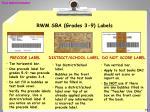 rwm sba grades 3 9 labels