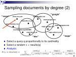 sampling documents by degree 2