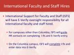 international faculty and staff hires