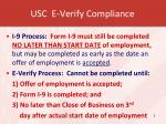 usc e verify compliance
